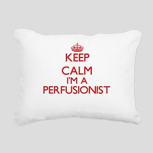 Keep calm I'm a Perfusio Rectangular Canvas Pillow