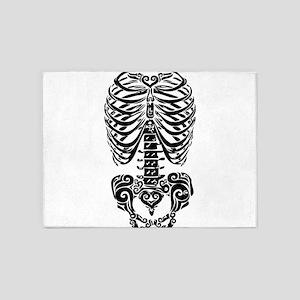 bones 5'x7'Area Rug