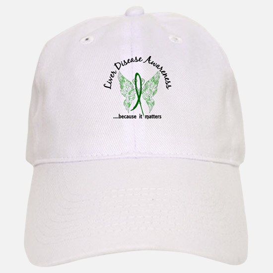 Liver Disease Butterfly 6.1 Baseball Baseball Cap