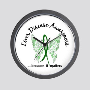 Liver Disease Butterfly 6.1 Wall Clock