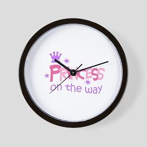 PRINCESS ON THE WAY Wall Clock