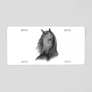 Black Mustang Aluminum License Plate
