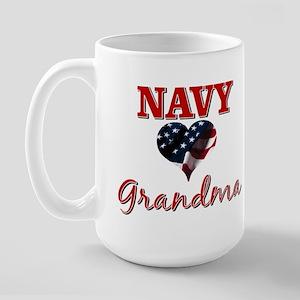 NAVY Grandma Large Mug