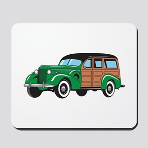 CLASSIC WOODY CAR Mousepad
