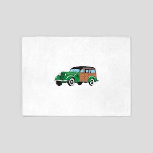 CLASSIC WOODY CAR 5'x7'Area Rug