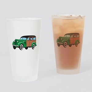 CLASSIC WOODY CAR Drinking Glass