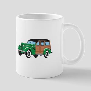 CLASSIC WOODY CAR Mugs