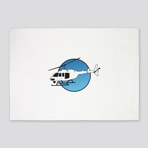 HELICOPTER AND SKY 5'x7'Area Rug