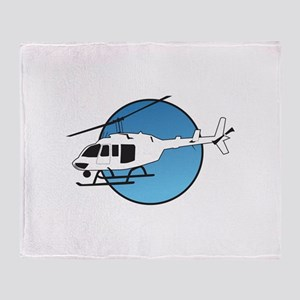 HELICOPTER AND SKY Throw Blanket