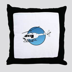 HELICOPTER AND SKY Throw Pillow