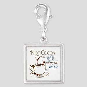 Cocoa with Cinnamon Silver Square Charm