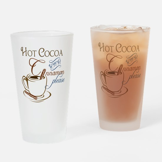 Cocoa with Cinnamon Drinking Glass
