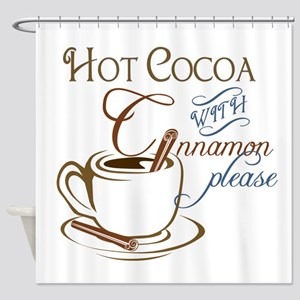 Cocoa with Cinnamon Shower Curtain
