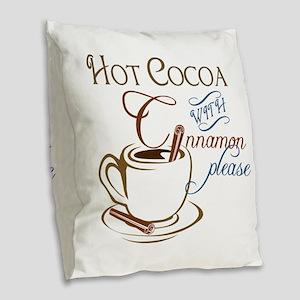 Cocoa with Cinnamon Burlap Throw Pillow