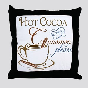 Cocoa with Cinnamon Throw Pillow