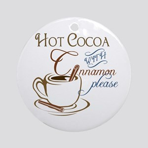 Cocoa with Cinnamon Ornament (Round)