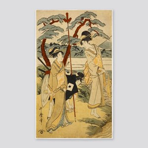 Hunting Party By Kitagawa Utamaro Area Rug