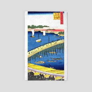 Ryogokubashi Bridge Area Rug