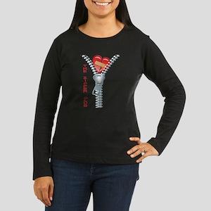 The Zipper Club Women's Long Sleeve Dark T-Shirt