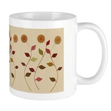 Giving Thanks Floral Add Monogram Mugs
