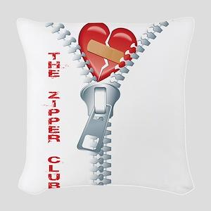 The Zipper Club Woven Throw Pillow