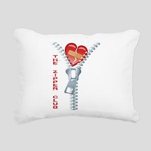 The Zipper Club Rectangular Canvas Pillow
