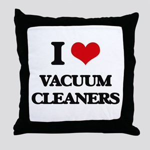 I love Vacuum Cleaners Throw Pillow