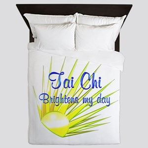 Tai Chi Brightens Queen Duvet