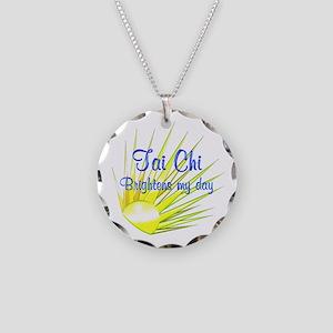 Tai Chi Brightens Necklace Circle Charm
