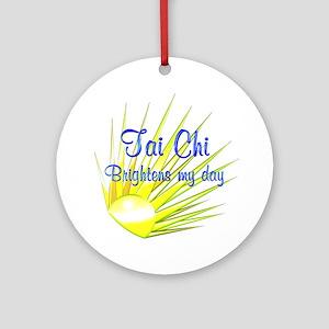 Tai Chi Brightens Ornament (Round)