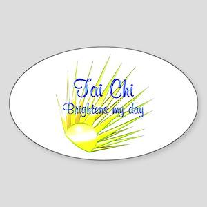 Tai Chi Brightens Sticker (Oval)
