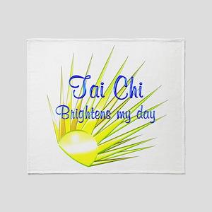 Tai Chi Brightens Throw Blanket