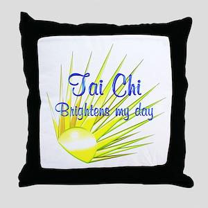 Tai Chi Brightens Throw Pillow