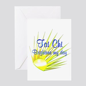 Tai Chi Brightens Greeting Card