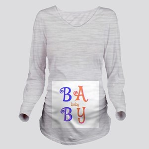 """Baby-Baby"" Long Sleeve Maternity T-Shir"