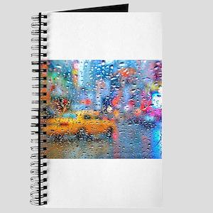 Times Sq. Taxi: Rain Storm Journal