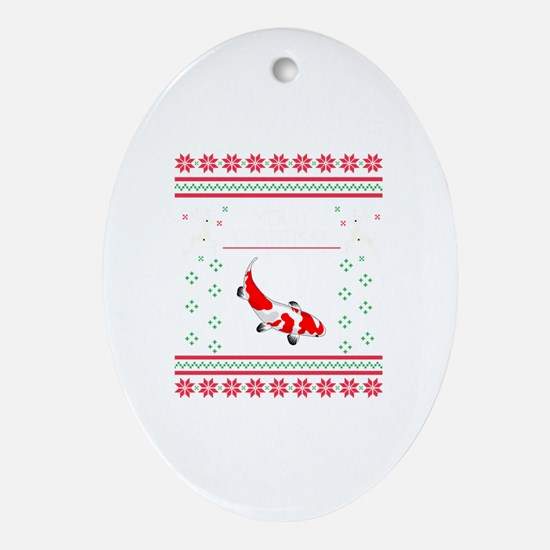Cute Christmas patterns Oval Ornament
