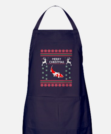 Funny Abstract design Apron (dark)