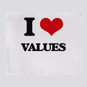 I love Values Throw Blanket