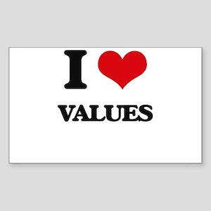 I love Values Sticker
