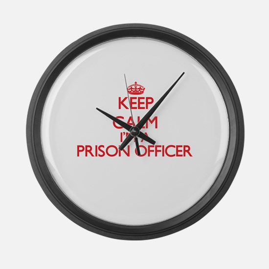 Keep calm I'm a Prison Officer Large Wall Clock