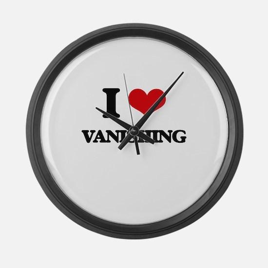 I love Vanishing Large Wall Clock