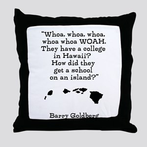 A College on an Island Throw Pillow