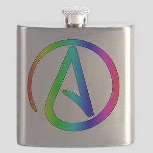 Rainbow Atheist Flask