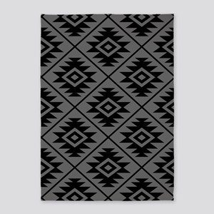 Aztec Symbol Big Ptn Bg 5'x7'area Rug