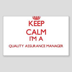 Keep calm I'm a Quality Assurance Manager Sticker