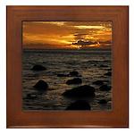 Maui Sunset Framed Tile
