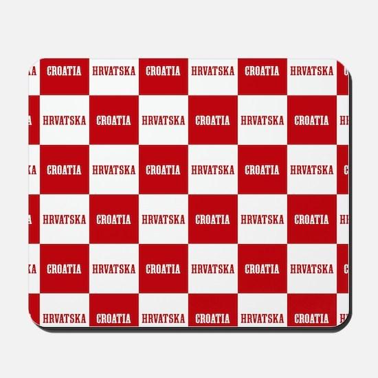 Croatia - Hrvatska Checkered Mousepad