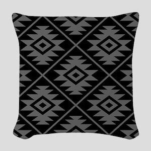 Aztec Symbol Big Ptn Gb Woven Throw Pillow