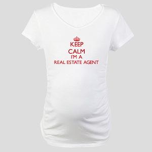 Keep calm I'm a Real Estate Agen Maternity T-Shirt